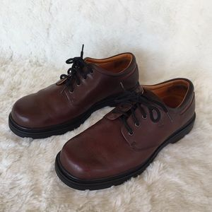 TIMBERLAND Men's Brown Leather Oxfords Waterproof